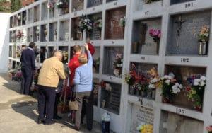 Día de Todos los Santos en el cementerio de Rivas Vaciamadrid (Fuente; Diario de Rivas)
