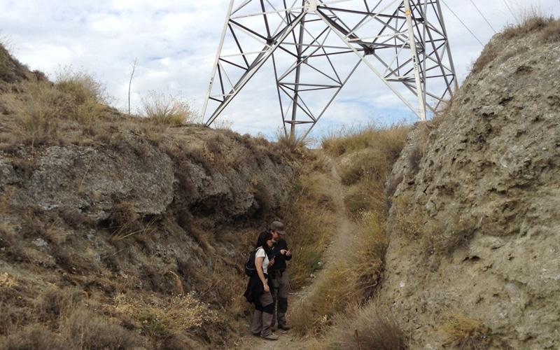 Restos de entrada y canalización hidráulica en las ruinas del castillo de Ribas de Jarama