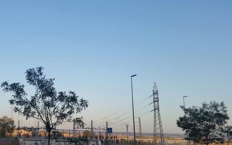 Subestación eléctrica en el barrio de la Luna
