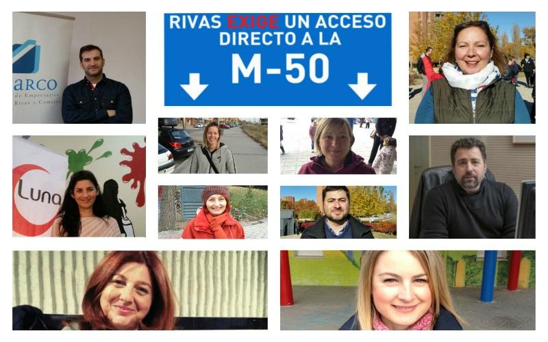 Acceso de Rivas a la M-50: hablan los ripenses