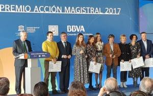 El equipo del IES Duque de Rivas recibe el premio Acción Magistral 2017 (Fuente: Ayuntamiento de Rivas Vaciamadrid)