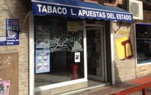 Administración de Loterías de la plaza de Blas de Otero de Rivas (Fuente: Diario de Rivas)