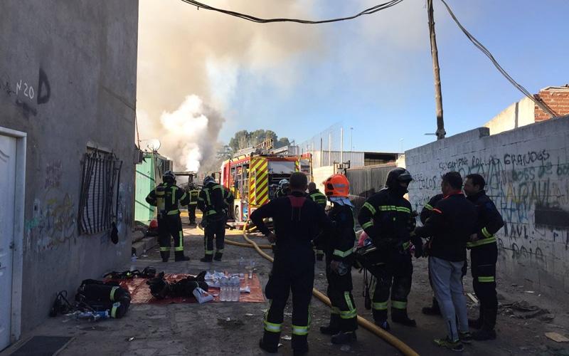 Incendio en el Sector VI de la Cañada Real Galiana (Fuente: Ayuntamiento de Madrid)