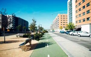 Bulevar del barrio de La Luna (Fuente: Ayuntamiento de Rivas Vaciamadrid)