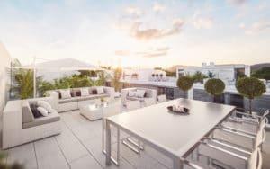 Infografía de la nueva promoción de viviendas de Fide Madrid Gestión en avenida de la Tierra (Fuente: Fide Madrid Gestión S.L.)