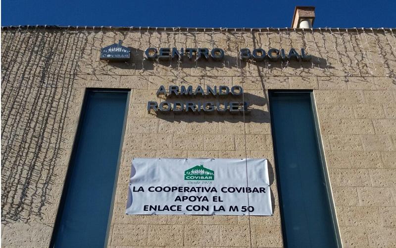 Cartel de Covibar en apoyo a la salida a la M-50