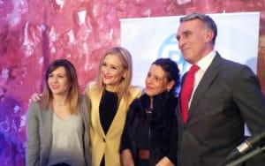 Ana Isabel Pérez, Cristina Cifuentes, Inés Berrio y José Antonio Riber