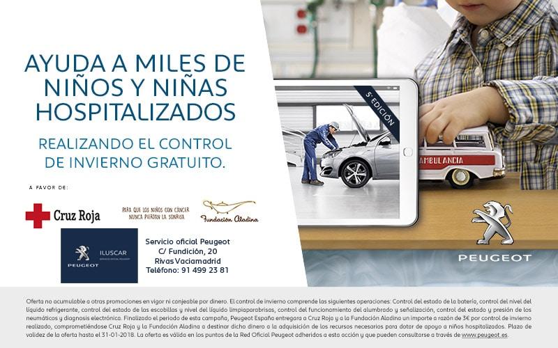 Peugeot reedita este invierno su campaña de Revisiones Solidarias para ayudar a niños hospitalizados
