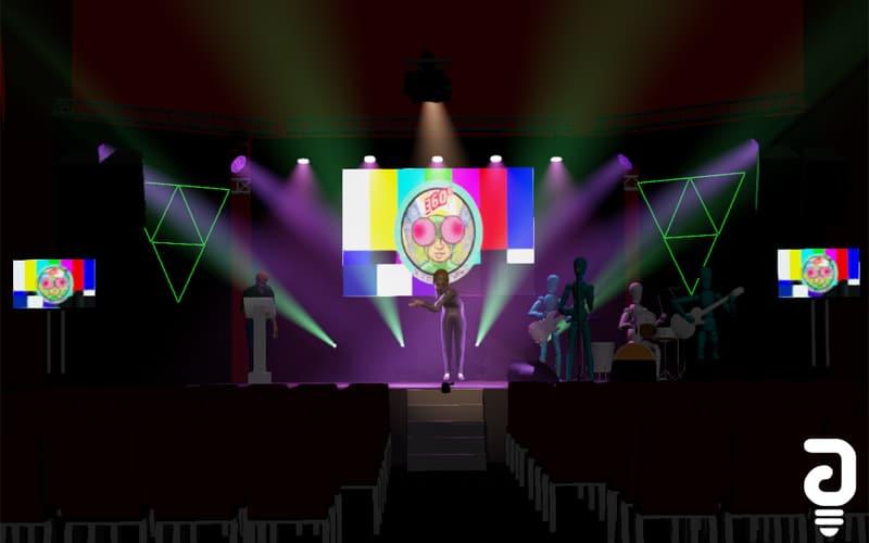 Diseño virtual 3D del festival Cinema 360º Contest (Fuente: Espacio 4FM)