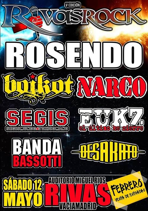 Cartel de la quinta edición del festival Rivas Rock (Fuente: Rivas Rock)