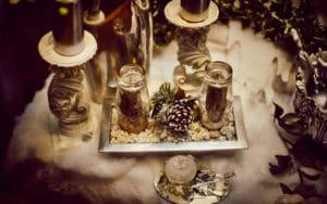 Escaparate navideño de Esencia Arte Floral, segundo premio del VII Concurso de Escaparatismo de Rivas
