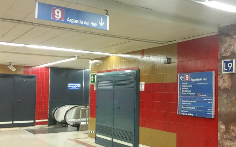 Línea 9 de Metro entre Rivas y Arganda