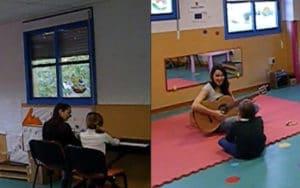 Sesión de musicoterapia en SuresTEA