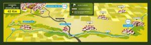 Recorrido del Maratón de la Vía Verde del Tajuña (Fuente: Maratón Vía Verde)