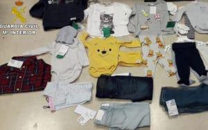 Prendas de ropa incautadas (Fuente: Guardia Civil)