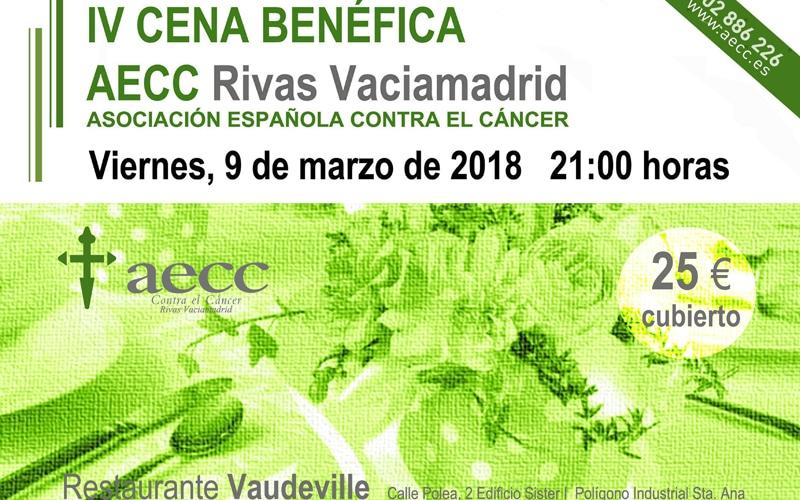 La Asociación Española Contra el Cáncer celebrará su cena benéfica en Rivas el 9 de marzo