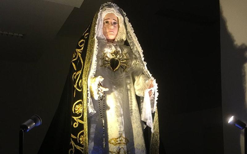 Imagen de La Dolorosa de la parroquia de San Maximiliano de Kolbe de Rivas (Fuente: Parroquia de San Maximiliano de Kolbe).