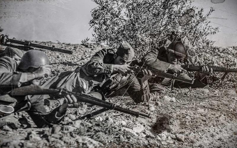 Imagen histórica de la Batalla del Jarama (Fuente: Carpetana Comunicación)
