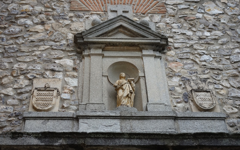 Estatua original de Santa Cecilia del Cristo de Rivas (Autor: Vicente Núñez)
