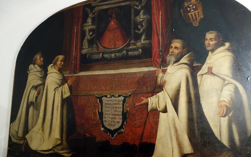 Cuadro con los fundadores de la Merced Descalza ubicado en el Cristo de Rivas (Autor: Vicente Núñez)