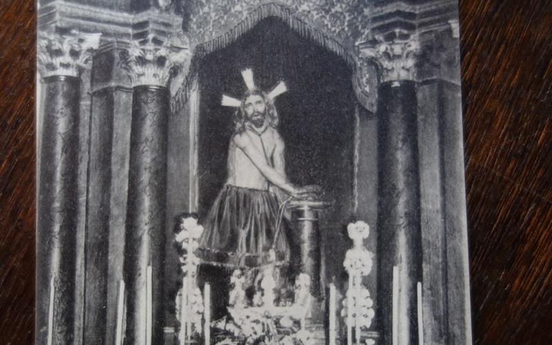 Imagen de la antigua estatua del Cristo de los Afligidos