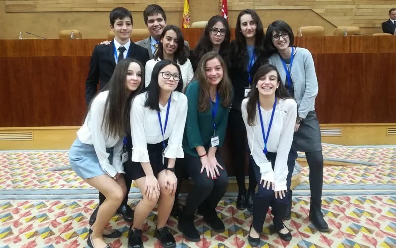 Alumnos del IES Antares reciben el premio 'Global Classrooms' de Naciones Unidas