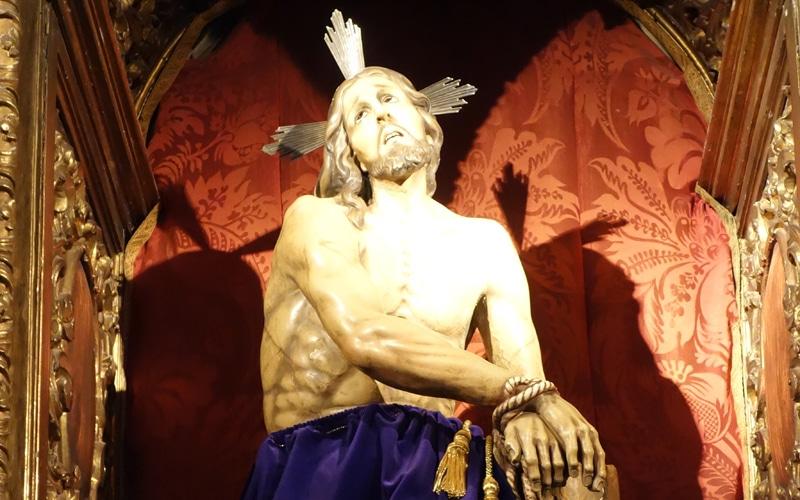 Réplica de la estatua del Cristo de los Afligidos (Autor: Vicente Núñez).