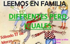 Cartel de la actividad familiar 'Diferentes pero iguales' (Fuente: Ayuntamiento de Arganda del Rey)