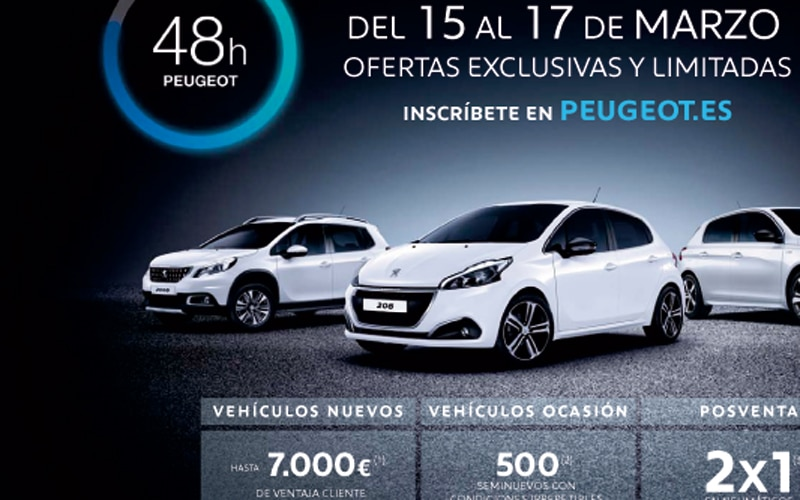 48h Peugeot en Iluscar Rivas: descuentos exclusivos de hasta 7.000 euros del 15 al 17 de marzo