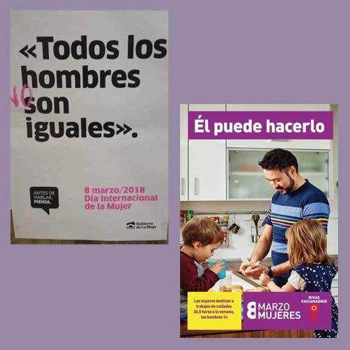 Campañas del 8 de Marzo en Logroño y en Rivas