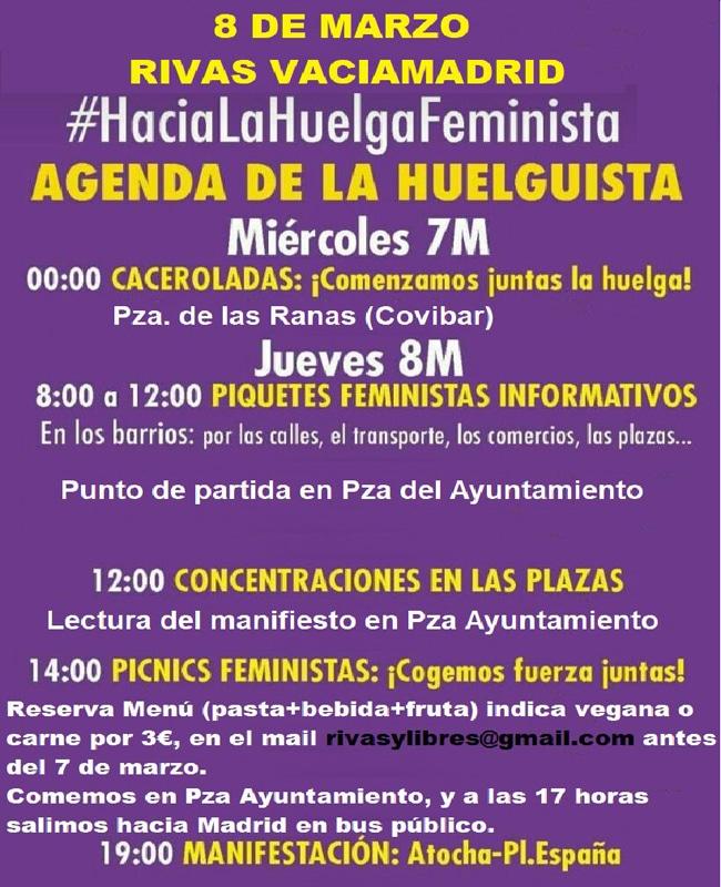 Agenda de la huelguista Rivas