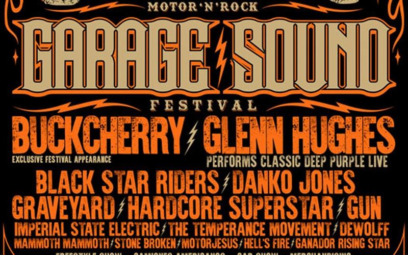 Buckcherry y Glenn Hughes encabezan la segunda edición de Garage Sound Fest