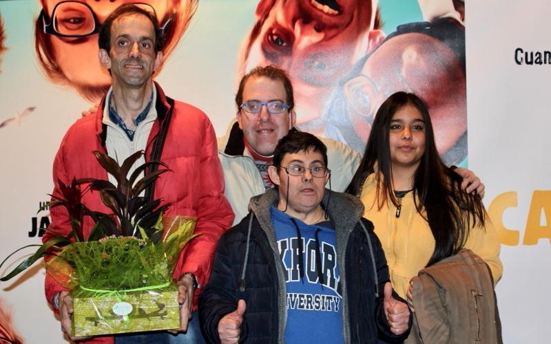 Fran Fuentes, José de Luna y Alberto Nieto, tres de los protagonistas de 'Campeones'. Foto: Diario de Rivas.