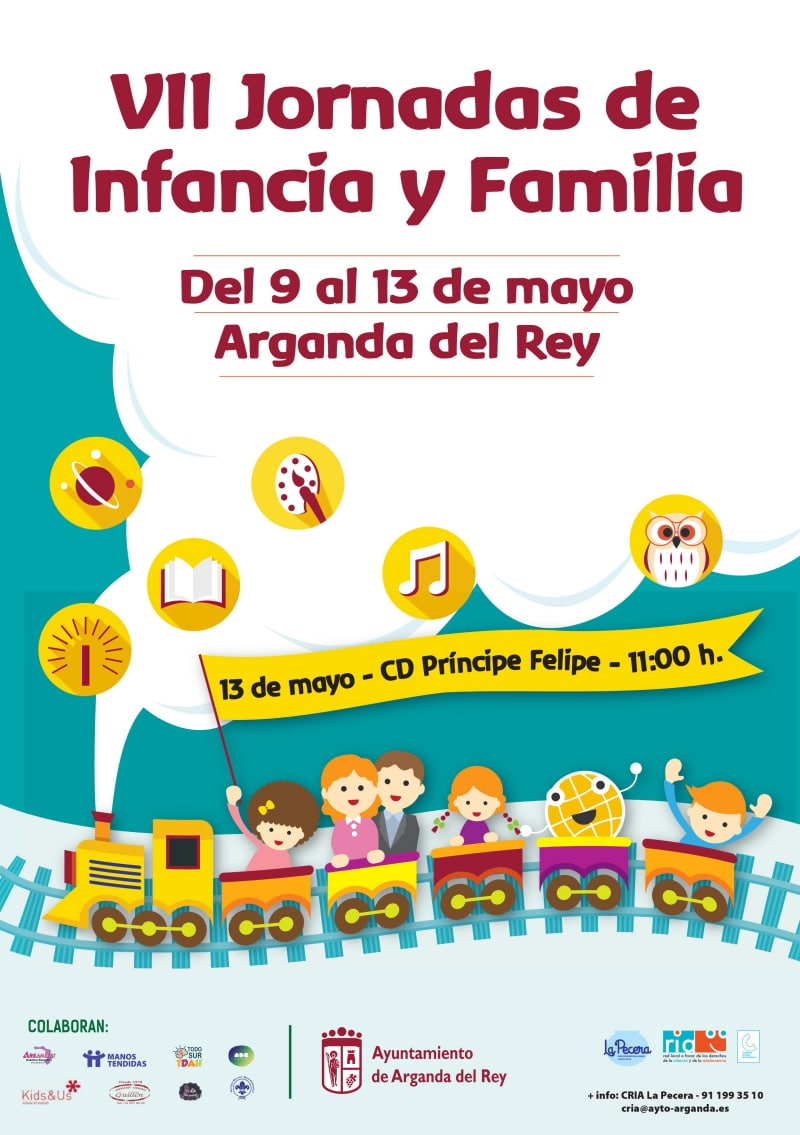 Cartel de las VII Jornadas de Infancia y Familia de Arganda del Rey. Imagen facilitada por el Ayuntamiento.