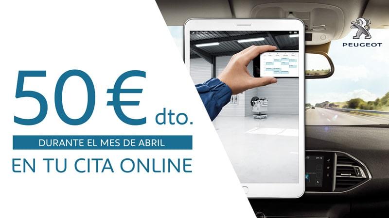 Descuento cita online Peugeot