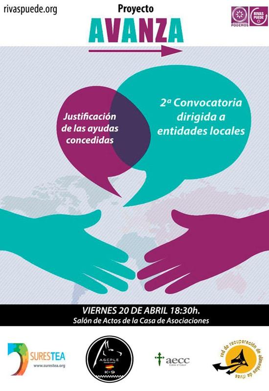 Presentación de la segunda edición del Proyecto Avanza de Rivas Puede