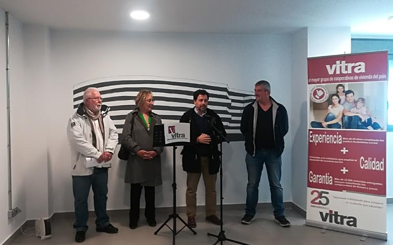 Francisco Naranjo, presidente de Vitra; Ana Reboiro, concejala de Desarrollo Económico; Pedro del Cura, alcalde de Rivas; y Jesús Quirós, secretario comarcal de CCOO