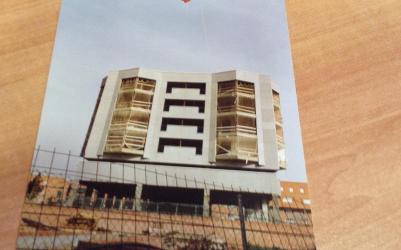 Construcción del edificio 'azul' de Covibar