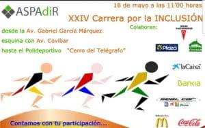 CARTEL de la XXIV Carrera por la Inclusión de ASPADIR.