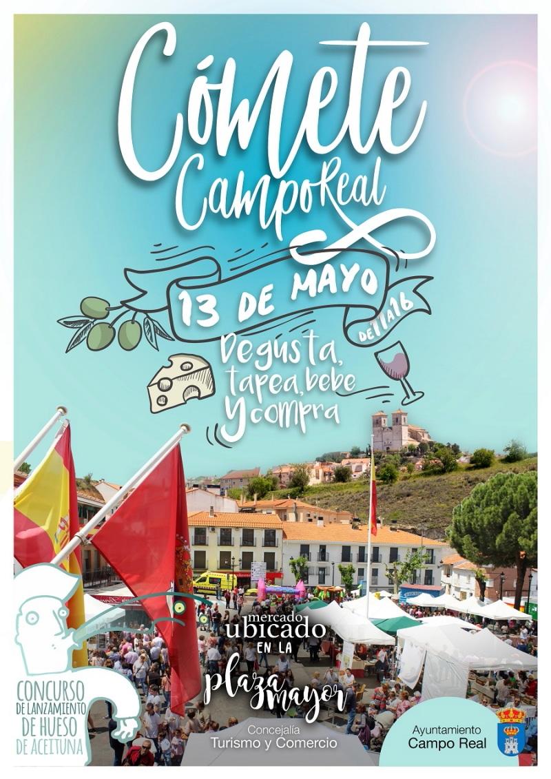 Cartel feria gastronómica Cómete Campo Real.