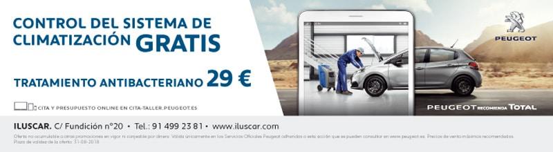 Campaña de climatización Peugeot Iluscar Rivas Peugeot