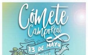Cartel de la feria gastronómica Cómete Campo Real.