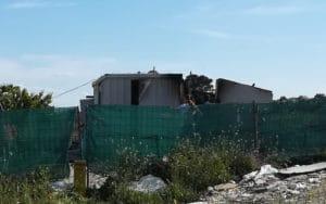 Construcción incendiada este viernes en la Cañada Real