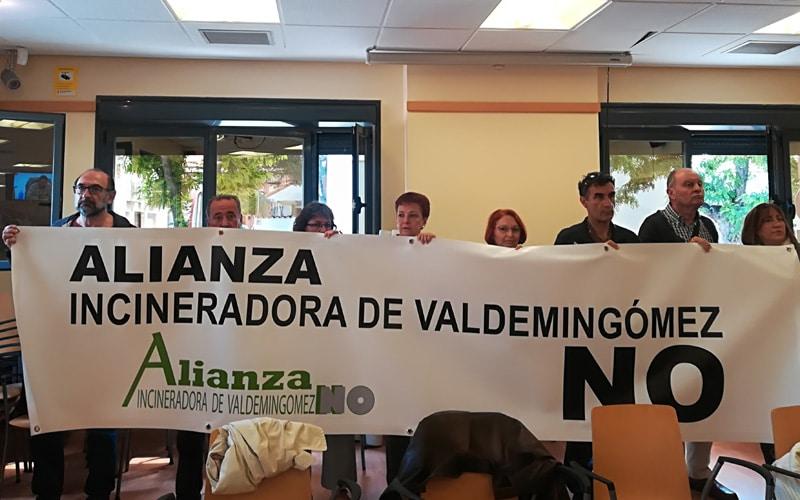 Miembros de la Alianza Incineradora de Valdemingómez No en el Pleno de Rivas