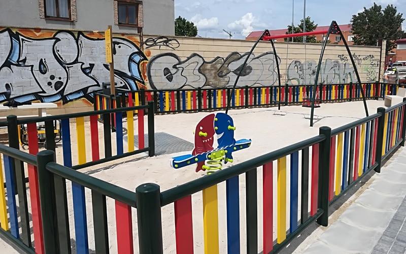 Parque infantil junto al colegio Mario Benedetti de Rivas