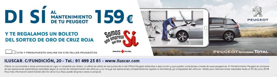 Reserva mantenimiento Peugeot Iluscar