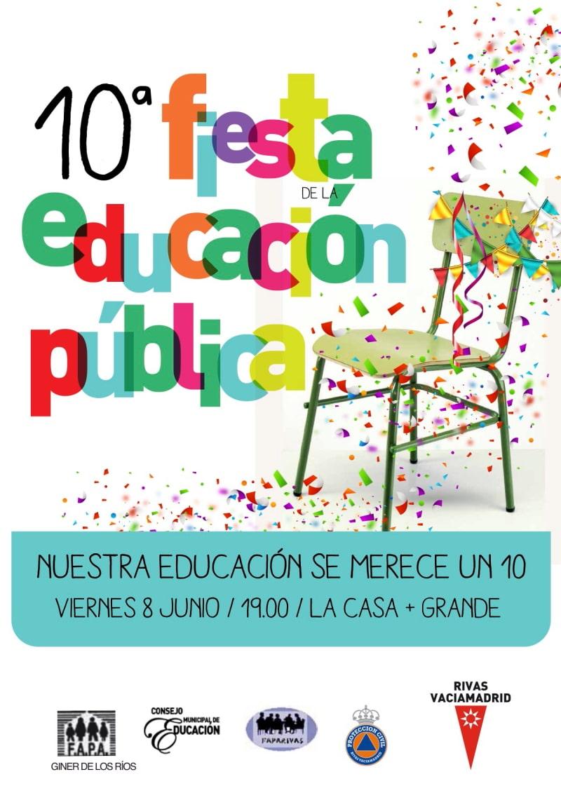 Cartel de la Fiesta de la Educación Pública 2018.