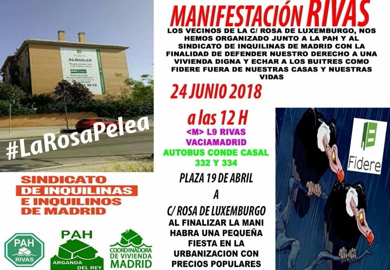 Vecinos de la calle Rosa Luxemburgo de Rivas, en pie de guerra contra un 'fondo buitre'