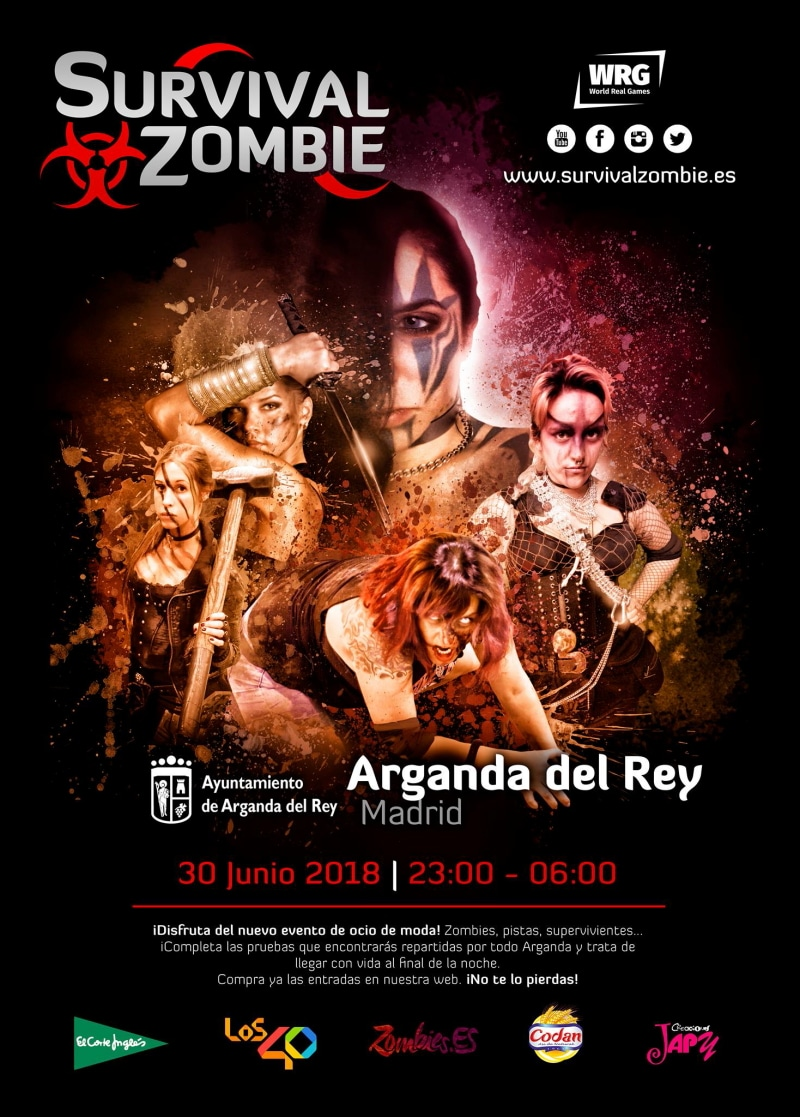Cartel de Survival Zombie.