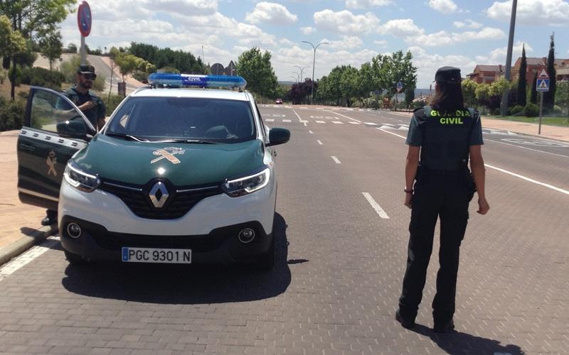Coche patrulla de la Guardia Civil (Fuente: Diario de Rivas)